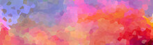 Multi-colored Mosaic. Rainbow Background. Vector Illustration