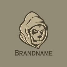 Panda Head Logo Hooded.