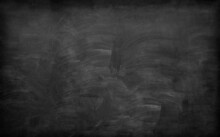 School Background, Blackboard With Remnants Of Erased Chalk