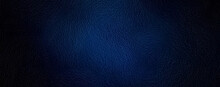 Vintage Dark Blue Leather Background Texture. Surface Of Leatherette Use For Background. Mood And Toned For Interior Material Background With Dark Borders Vignette