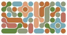 Metaballs Renaissance Pattern Design Background