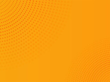 Abstract Orange Dots Pattern Background.
