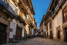 Cobbled Alley Of Medieval Village
