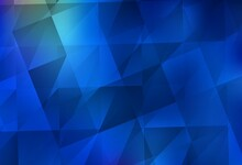Light BLUE Vector Abstract Polygonal Pattern.