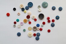 Colorful Buttons Studded On The Whiteboard