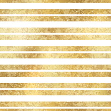 Festive Vector Geometric Striped Golden Seamless Pattern. Classic Shiny Gold Foil Repeat Texture With Horizontal Lines. White Stripes Holiday Luxury Glow Print For Digital Paper, Background, Wallpaper