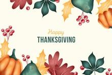 Flat Thanksgiving Background Vector Design Illustration