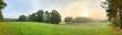 canvas print picture - Ein Panorama von einer typischen Landschaft im Land Brandenburg, Deutschland. Es ist früher Morgen im Herbst.