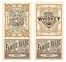 Set Of 2 Vintage Labels For Packing
