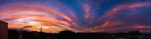 Panorâmica Do Pôr Do Sol