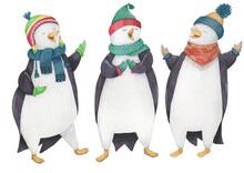 Christmas Trio Of Singing Penguins