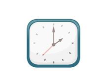 Modern Mechanical Alarm Clock Vector Illustration On White Background