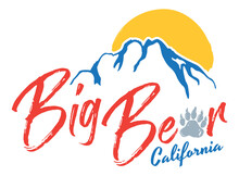 Big Bear Lake T-Shirt Design | Graphic Tee Layout For Southern California Mountain Resort And Ski Town | Vector Bear Paw Outline | Winter Vacation