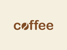 Modern And Simplistic Coffee Bean Design. The Logo Is The Perfect Choice For A Cafe Business. Coffee Shop