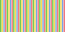 Rainbow Geometric Pattern Stripes Seamless Landscape Background For Kids