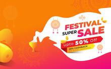 Indian Festival Offer Background Design Layout Template Vector Illustration