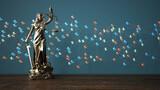 Justitia Statue Paragrafen Netzwerk