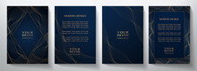 Contemporary Technology Cover Design Set. Luxury Background With Black Line Pattern (guilloche Curves). Premium Vector Tech Backdrop For Business Layout, Digital Certificate, Formal Brochure Template