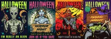 Halloween Party Colorful Vintage Posters