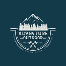 Adventure Outdoor Design Logo Template