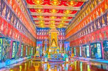 The Interior Of Phuttaisawan Royal Hall, Bangkok, Thailand