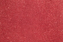 Red Surface With Glitter, Use For Background.
