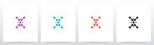Diamond Square Forming Letter Logo Design X
