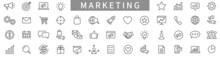 Marketing Line Icons Set. Advertising Icon Collection. Marketing Symbol Set. Vector Illustration