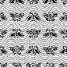 Seamless Butterfly Black White Woven Herringbone Style Texture. Two Tone 50s Monochrome Pattern. Modern Textile Weave Effect. Masculine Broken Line Repeat Jpg Print.