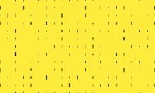 Seamless Background Pattern Of Evenly Spaced Black Beer Can Symbols Of Different Sizes And Opacity. Vector Illustration On Yellow Background With Stars