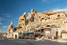Turkey, Cappadocia, Cavusin, St. John The Baptist Church In Rock Formations