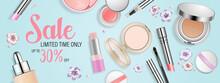 Beauty Makeup Banner.