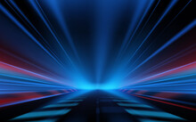 Abstract Blue And Red Light Motion Background