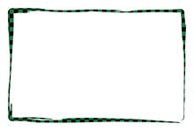 市松模様の和風なシンプルなフレーム素材