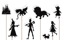 Wizard Of Oz Storytelling, Isolated Shadow Puppets.