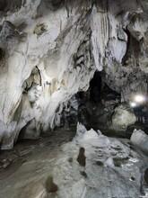 Cave Formations  In Vartop Glacial Cave, Romania