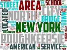 Poughkeepsie Typography, Wordcloud, Wordart,