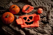 Baby Halloween Costume Jack O Lantern With Pumpkins And Lights