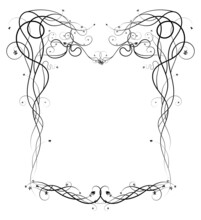 Baroque Frame With Grapes Sketch New Style Doodle