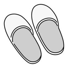 スリッパ(白) 履き物 イラスト アイコン