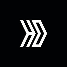 HO Logo Monogram Design Template