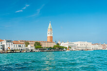 View On Saint Mark's Square, On Grand Canal, From Punta Della Dogana, Lagoon Of Venice, Italy
