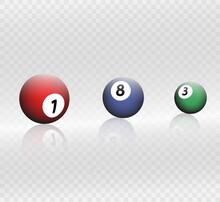 Billiard Balls Vector.