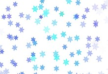 Light Blue, Green Vector Pattern With Christmas Snowflakes, Stars.