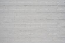Weiss Gestrichene Ziegelmauer / Textur / Hintergrund