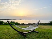 Hammock On Ibiza At Sunset