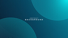 Modern Abstract Gradient Background With Bright Blue Circles Lines Decoration.Trendy Simple Circle Lines Texture Creative Design. Suit For Poster, Cover, Banner, Flyer, Brochure, Website, Presentation