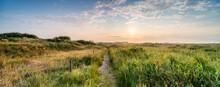 Sonnenaufgang Im Naturschutzgebiet Flinthörn Auf Der Nordseeinsel Langeoog