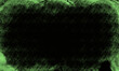 Czarne tło z zieloną ramką.