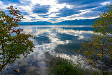 Breathtaking Early Autumn Landscapes Along The Shores Of The Upper Zurch Lake (Obersee) Between Hurden (Schwyz) And Rapperswil (St. Gallen), Switzerland